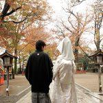 紅葉前撮り神社