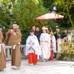 進雄神社で和婚神前式