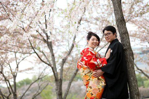 群馬和装前撮りロケーションフォト桜